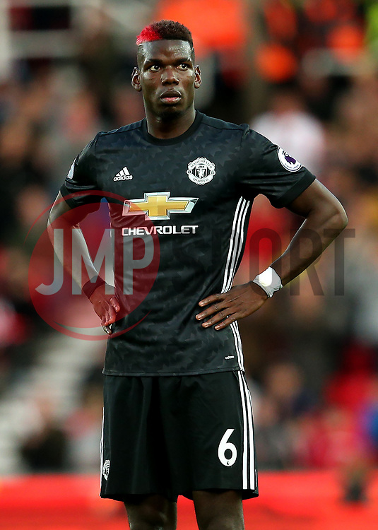 Paul Pogba of Manchester United - Mandatory by-line: Matt McNulty/JMP - 09/09/2017 - FOOTBALL - Bet365 Stadium - Stoke-on-Trent, England - Stoke City v Manchester United - Premier League