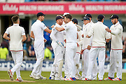 England & Lancashire bowler James Jimmy Anderson  gets Sri Lanka Nuwan Pradeep  for his 10 wicket match haul during day 3 of the first Investec Test Series 2016 match between England and Sri Lanka at Headingly Stadium, Leeds, United Kingdom on 21 May 2016. Photo by Simon Davies.