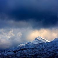 Stormy Weather and irish winter landscape over Kerry highlands, Ireland / ba05