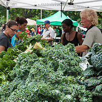 Fresh, local produce at a farmers' market.