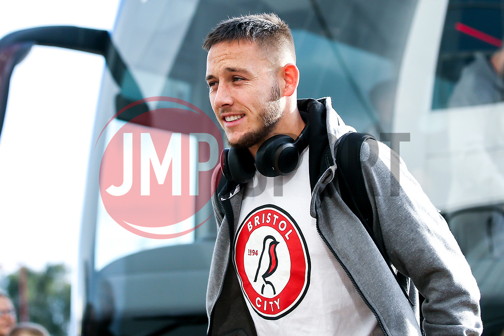 Josh Brownhill of Bristol City arrives at Pride Park for the Sky Bet Championship fixture against Derby County  - Mandatory by-line: Robbie Stephenson/JMP - 20/08/2019 - FOOTBALL - Pride Park Stadium - Derby, England - Derby County v Bristol City - Sky Bet Championship