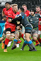 Rugby Union - 2019 / 2020 European Rugby Heineken Champions Cup - Pool Four: Ospreys vs. Saracens<br /> <br /> Jackson Wray ©  of Saracens attacks , at the Liberty Stadium.<br /> <br /> COLORSPORT/WINSTON BYNORTH