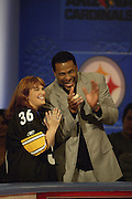 Pittsburgh Steelers running back Jerome Bettis appears on NFL Players Week on Wheel of Fortune on 11/04/2003. ©Paul Anthony Spinelli/NFL Photos