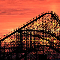 The Great White Roller Coaster, Morey's Piers, Wilfdwood, New Jersey, USA
