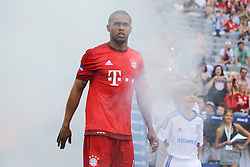 11.07.2015, Alianz Arena, Muenchen, GER, 1. FBL, FC Bayern Muenchen, Teampräsentation, im Bild Douglas Costa #11 (FC Bayern Muenchen) kommt in die Arena // during the Teampresentation of German Bundesliga Club FC Bayern Munich at the Alianz Arena in Muenchen, Germany on 2015/07/11. EXPA Pictures © 2015, PhotoCredit: EXPA/ Eibner-Pressefoto/ Kolbert<br /> <br /> *****ATTENTION - OUT of GER*****