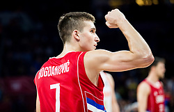 Bogdan Bogdanovic of Serbia celebrates during basketball match between National Teams of Russia and Serbia at Day 16 in Semifinal of the FIBA EuroBasket 2017 at Sinan Erdem Dome in Istanbul, Turkey on September 15, 2017. Photo by Vid Ponikvar / Sportida