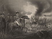 Frederick Augustus, Duke of York and Albany (1763-1827), commander of English army in the Flanders (1793-1795), leading the allied attack on the French camp on hills near Valenciennes. The town was besieged from 23 May to 28 July 1793, when garrison surrendered to the allies, Austria, Britain and Hanover. In later life he was known as 'The Grand Old Duke of York'.   Engraving.