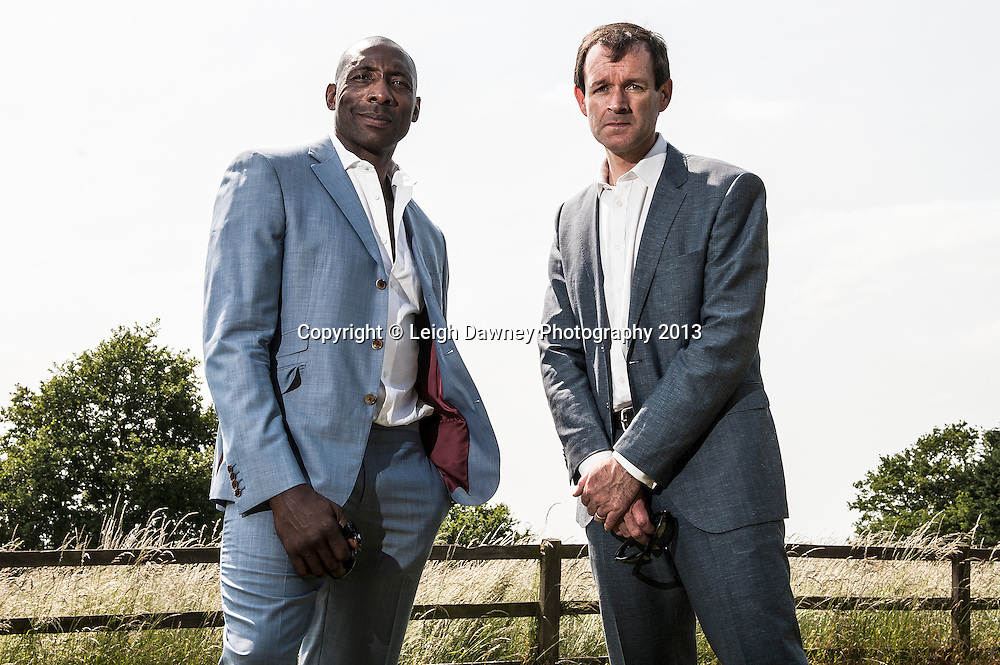 Johnny Nelson & Adam Smith, Skysports boxing commentators and presenters at the Matchroom Sport Media Day. Matchroom Sport HQ, Brentwood. 05.06.13. Credit: © Leigh Dawney Photography. Self Billing where applicable. Tel: 07812 790920