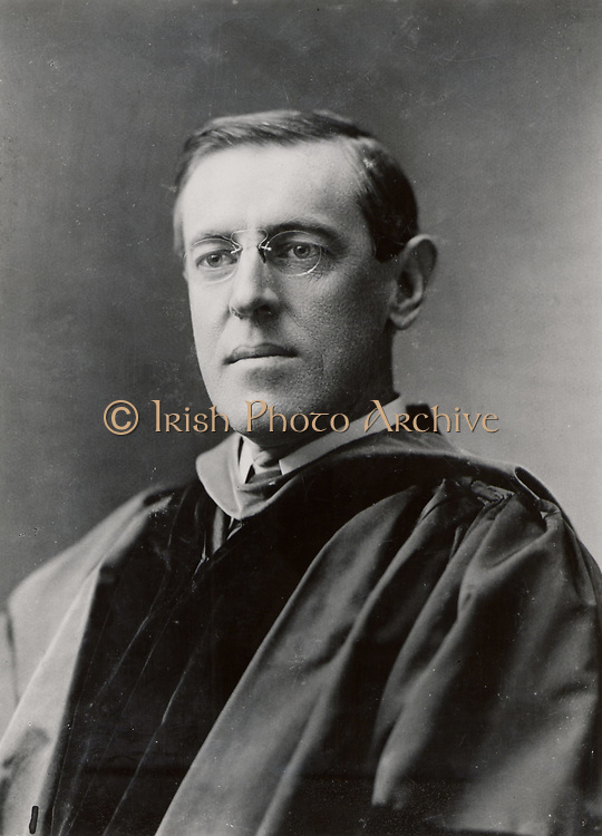 Thomas Woodrow Wilson ((1856-1924) 28th President of the USA 1913-1921. Wilson in 1903 when President of Princeton University.  Photograph. American Politician Democrat