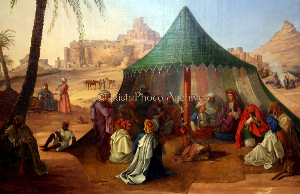 Baron von Minutoll in the Siwa Oasis, 1820. Egyptian Museum Berlin