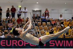 19.08.2014, Europa Sportpark, Berlin, GER, LEN, Schwimm EM 2014, Wasserspringen, 1m, Männer, Vorkampf, im Bild Patrick Hausding (DSV) (Deutschland) // during the men's 1m Diving preliminaries of the LEN 2014 European Swimming Championships at the Europa Sportpark in Berlin, Germany on 2014/08/19. EXPA Pictures © 2014, PhotoCredit: EXPA/ Eibner-Pressefoto/ Lau<br /> <br /> *****ATTENTION - OUT of GER*****