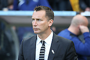 Derby County manager Darren Wassall  during the Sky Bet Championship play-off 2nd leg match between Hull City and Derby County at the KC Stadium, Kingston upon Hull, England on 17 May 2016. Photo by Simon Davies.
