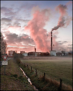 Industrial site in Marconne, France on 15 November, 2007.