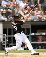 CHICAGO - AUGUST 02:  Jose Abreu #79 of the Chicago White Sox bats against the Kansas City Royals on August 2, 2018 at Guaranteed Rate Field in Chicago, Illinois.  (Photo by Ron Vesely)  Subject: Jose Abreu