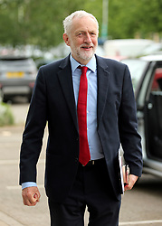 © Licensed to London News Pictures. 02/06/2017. York UK. Labour Party leader JEREMY CORBYN arrives to deliver a speech at York Science Park, outlining the party's strategy to deliver jobs and strengthen the economy. Photo credit: Andrew McCaren/LNP
