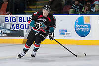 KELOWNA, CANADA - NOVEMBER 6: Carter Rigby #11 of the Kelowna Rockets skates against the Red Deer Rebels  on NOVEMBER 6, 2013 at Prospera Place in Kelowna, British Columbia, Canada.   (Photo by Marissa Baecker/Shoot the Breeze)  ***  Local Caption  ***