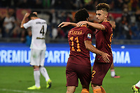 Gol Mohamed Salah Roma Goal celebration 1-0 with Stephan El Shaarawy <br /> Roma 23-10-2016  Stadio Olimpico <br /> Football Calcio Serie A 2016/2017 AS Roma - Palermo <br /> Foto Andrea Staccioli / Insidefoto