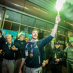 20170918: SLO, Basketball - Prihod slovenskih košarkašev na letališče