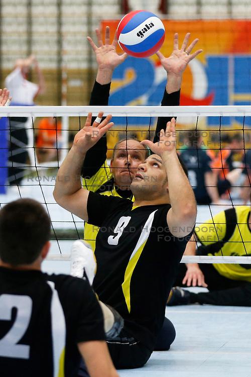 11-05-2013 VOLLEYBAL: NK ZITVOLLEYBAL : BELFELD<br /> Volleer wint de halve finale met 3-0 van VV Apollo, Said Mezlay van Volleer<br /> &copy;2013-FotoHoogendoorn.nl / Pim Waslander
