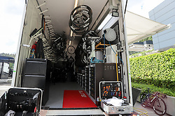 Inside of the Team Dimension Data truck before press conference of cycling race Po Sloveniji - Tour de Slovenie 2015 on June 15, 2016 in Hotel Jama, Postojna, Slovenia. Photo by Morgan Kristan / Sportida