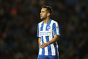 Brighton & Hove Albion centre forward Sam Baldock (9), goal scorer during the EFL Sky Bet Championship match between Brighton and Hove Albion and Wolverhampton Wanderers at the American Express Community Stadium, Brighton and Hove, England on 18 October 2016.