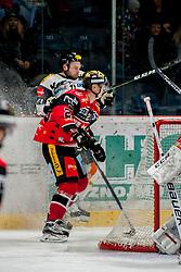 08.01.2017, Ice Rink, Znojmo, CZE, EBEL, HC Orli Znojmo vs Dornbirner Eishockey Club, 41. Runde, im Bild v.l. Antonin Boruta (HC Orli Znojmo) Kevin Macierzynski (Dornbirner) // during the Erste Bank Icehockey League 41th round match between HC Orli Znojmo and Dornbirner Eishockey Club at the Ice Rink in Znojmo, Czech Republic on 2017/01/08. EXPA Pictures © 2017, PhotoCredit: EXPA/ Rostislav Pfeffer