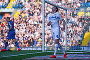 Patrick Bamford of Leeds United (9) reacts to a chance missed during the EFL Sky Bet Championship match between Leeds United and Bolton Wanderers at Elland Road, Leeds, England on 23 February 2019.