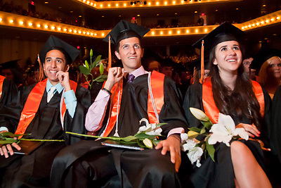 Lathan Goumas | MLive.com..Graduates cheer during the 2012 Flushing High School commencement ceremony at the Whiting Theater in Flint, Mich. on Sunday June 3, 2012.