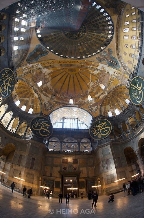 Istanbul. Hagia Sophia (a former church turned into a mosque, and now a museum).