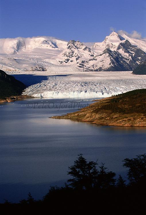Perito Moreno Glacier<br />Los Glaciares National Park, Patagonia. ARGENTINA<br />South America<br />Only Glacier in South America not receeding