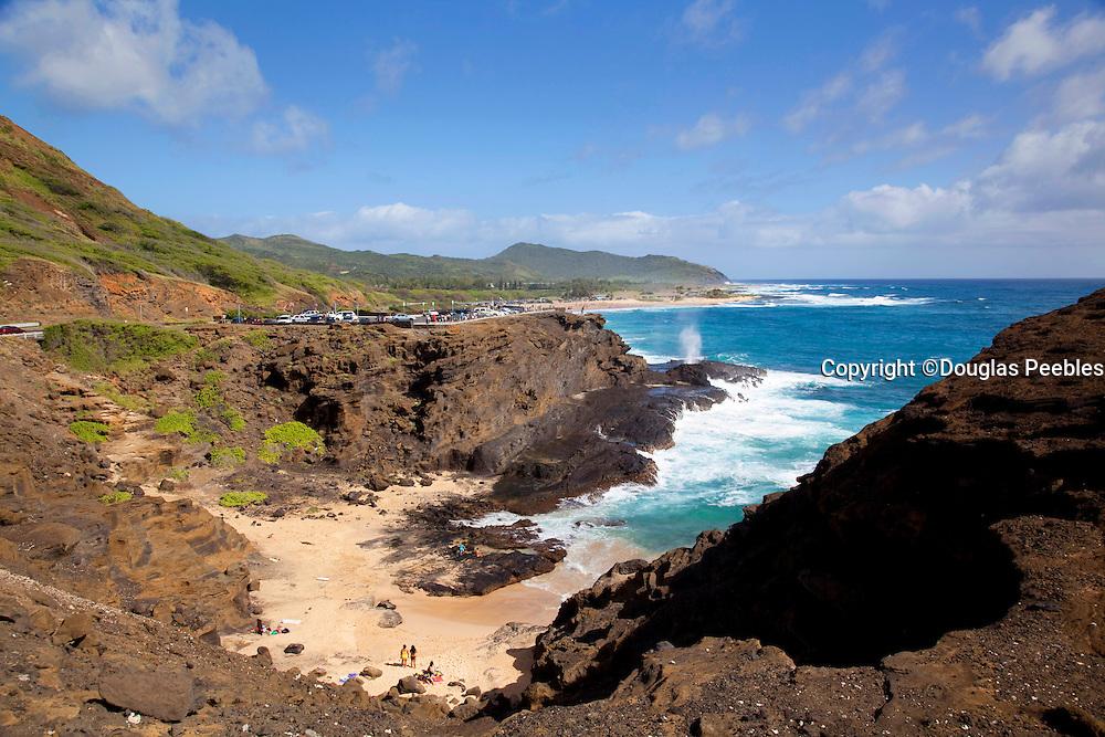 Halona beach, Blowhole , Oahu, Hawaii