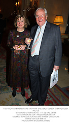 Actor RICHARD BRYERS and his wife ANNIE at a party in London on 5th April 2004.PTC 123