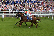 RED VERDON (5) ridden by David Allan and trained by Ed Dunlop winning The Group 3 John Smtihs Silver Cup Stakes over 1m 6f (£65,000)  during the John Smiths Diamond Cup Meeting at York Racecourse, York, United Kingdom on 13 July 2019.
