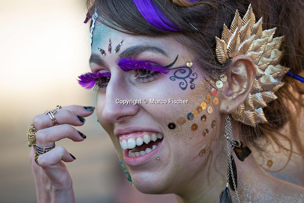 Girl at street parade