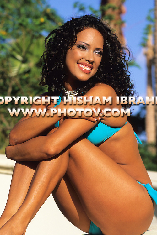 Sexy Latin Young Woman in a bikini, Miami, Florida