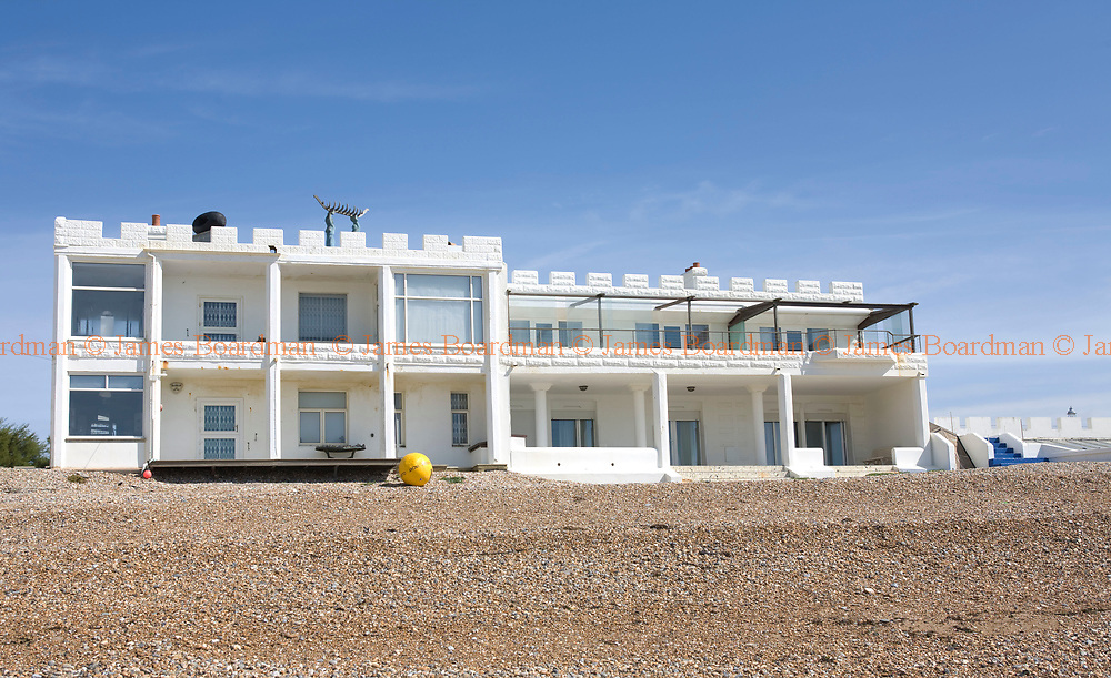 JAMES BOARDMAN / 07967642437<br /> Mrs Beryl Norris's marine-side home [RIGHT HAND SIDE] in Hove, East Sussex. The 4 million pound property has a private beach, indoor swimming pool, Sauna, Jacuzz, 7 bedrooms, concealed bar and covered porch.