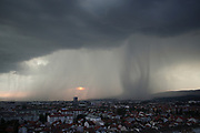 Heavy rain floods west part of Zagreb city.