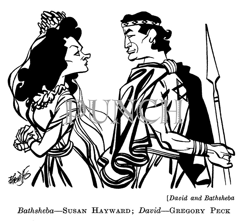 David and Bathsheba : Susan Hayward and Gregory Peck..