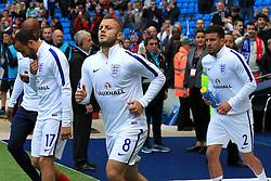 Jack Wilshere, Andros Townsend and Kyle Walker warm up - Mandatory byline: Matt McNulty/JMP - 07966386802 - 22/05/2016 - FOOTBALL - Etihad Stadium -Manchester,England - England v Turkey - International Friendly