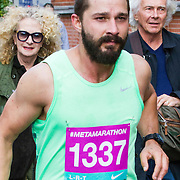 NLD/Amsterdam/20140925 - Actor Shia LaBeouf runs a marathon around the Stedelijk Museum in Amsterdam for symposium Metamodernism,