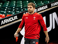 Leigh Halfpenny of Wales<br /> <br /> Photographer Simon King/Replay Images<br /> <br /> Six Nations Round 1 - Wales v Italy -  Captains Run - Friday 31st January 2020 - Principality Stadium - Cardiff<br /> <br /> World Copyright © Replay Images . All rights reserved. info@replayimages.co.uk - http://replayimages.co.uk