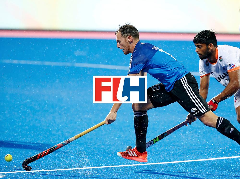 Odisha Men's Hockey World League Final Bhubaneswar 2017<br /> Match id:19<br /> India v Argentina<br /> Foto: Lucas Vila (Arg) and Varun Kumar (Ind) <br /> COPYRIGHT WORLDSPORTPICS KOEN SUYK