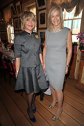 ROSIE, MARCHIONESS OF NORTHAMPTON and COUNTESS JENNIFER GUERRINI MARALDI at a lunch hosted by Roger Viver in honour of Bruno Frisoni their creative director, held at Harry's Bar, 26 South Audley Street, London on 31st March 2011.