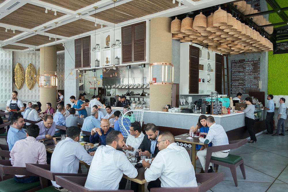 DUBAI, UAE —AUGUST 21, 2016: Craft Cafe in Dubai Design District (D3)