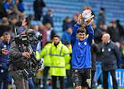 Sheffield Wednesday Forward Fernando Forestieri gets the man of the match award during the Sky Bet Championship match between Sheffield Wednesday and Leeds United at Hillsborough, Sheffield, England on 16 January 2016. Photo by Adam Rivers.