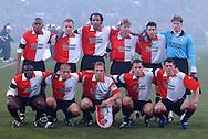 Photo: Gerrit de Heus. Rotterdam. UEFA Cup Final. Feyenoord-Borussia Dortmund. Teamphoto Feyenoord. Keywords: elftalfoto