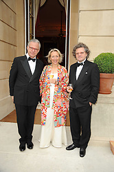 Left to right, CHRISTIAN SULGER-BUEL and JOELLE VERDON and HUBERT WURTH the Ambassador of Luxembourg at a dinner hosted by HRH Prince Robert of Luxembourg in celebration of the 75th anniversary of the acquisition of Chateau Haut-Brion by his great-grandfather Clarence Dillon held at Lancaster House, London on 10th June 2010.