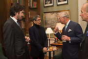 CHARLIE CAMPBELL; SONNY MEHTA; THE PRINCE OF WALES; DAVID CAMPBELL, Everyman 25th Anniversary party, Spencer House. St. James' Place. London. SW1. 26 October 2016