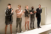 WALTER BUCKHOLTZ OVERALL WINNER ON RIGHT, MA-08 In the Parallel. London College of Fashion  GRADUATE SHOW 2008 , Royal Academy of Arts <br />