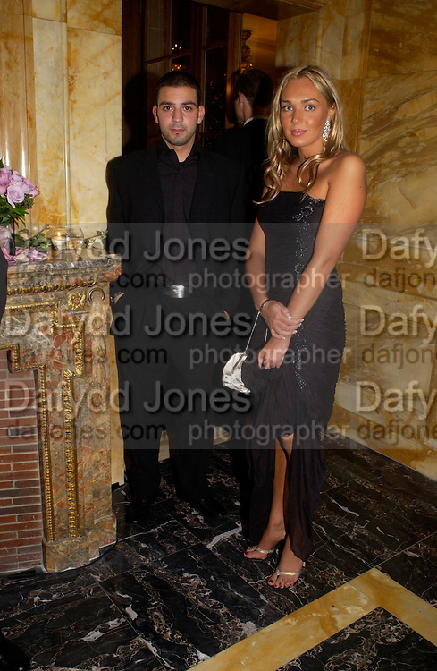 Theo Loucas and  Tamara Ecclestone, Crillon 2004 Debutante Ball. Crillon Hotel. Paris. 26 November 2004. ONE TIME USE ONLY - DO NOT ARCHIVE  © Copyright Photograph by Dafydd Jones 66 Stockwell Park Rd. London SW9 0DA Tel 020 7733 0108 www.dafjones.com